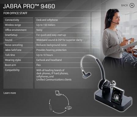 Jabra PRO 9460 headset microsoft lync