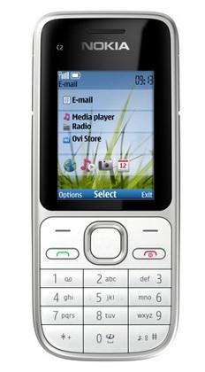 Nokia C2-01 Candybar Phone white