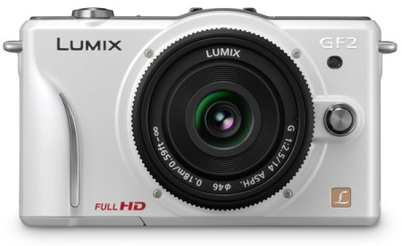 Panasonic LUMIX DMC-GF2 DSLMicro Mirrorless Camera white