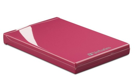 Verbatim Acclaim USB Portable Hard Drive pink