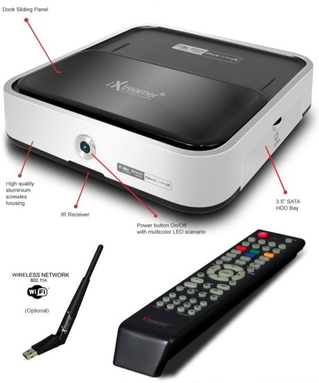 iXtreamer Hybrid Media Player with Dock for iDevices details and remote