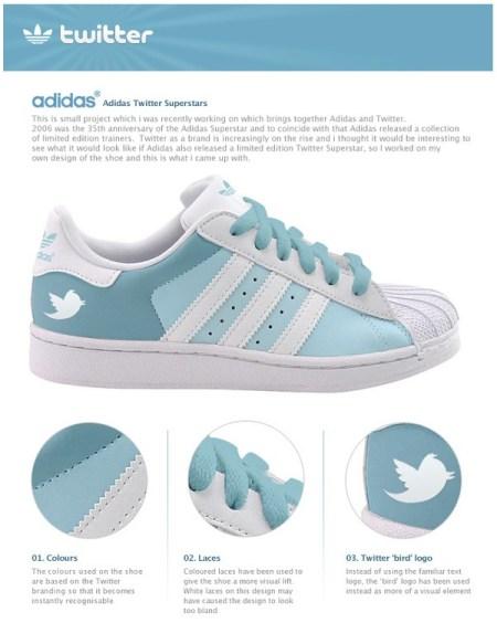 Adidas Twitter Superstars Shoe