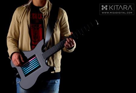 Misa Digital Kitara Stringless Guitar in use