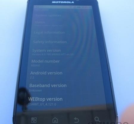 Motorola Olympus Leaked system info