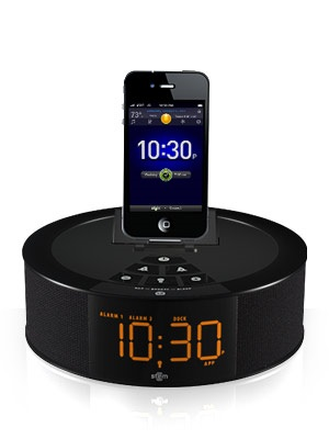 Stem Innovation TimeCommand Alarm Clock Music System for iDevices