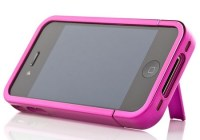 iKit iPhone 4 Chrome Flip Case with stand pink