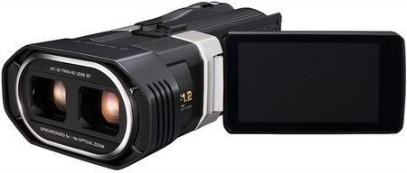 JVC GS-TD1 Full HD 3D Camcorder LCD display