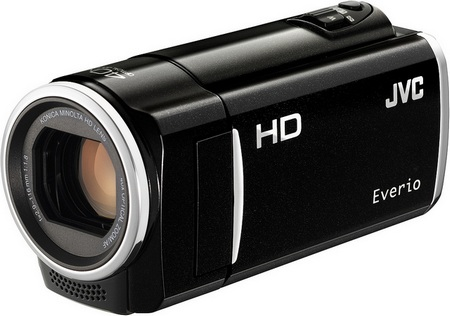 JVC HD Everio GZ-HM50 and GZ-HM30 720p HD Camcorders black