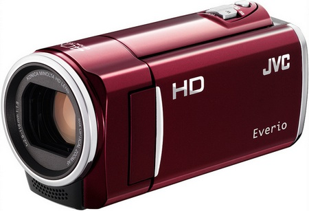 JVC HD Everio GZ-HM50 and GZ-HM30 720p HD Camcorders red
