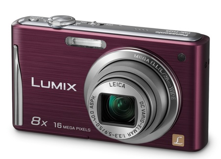 Panasonic LUMIX DMC-FH25 digital camera with 8x zoom violet