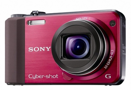 Sony Cyber-shot DSC-HX7V CompactCamera with 10x Optical Zoom red