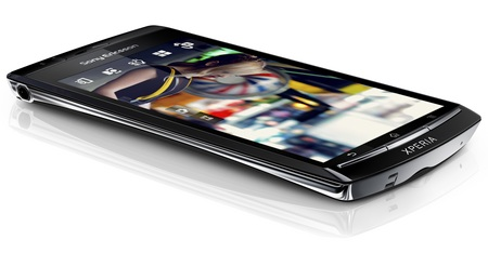 Sony Ericsson Xperia arc Super Slim Android Smartphone with Reality Display angle