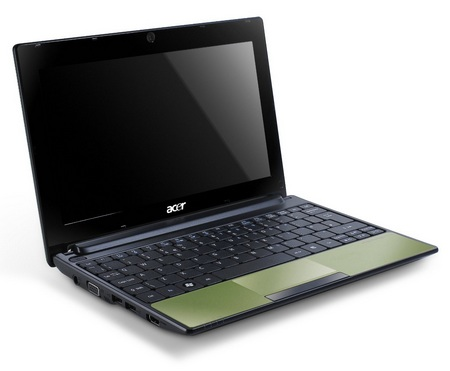 Acer Aspire One 522 Netbook with AMD Fusion APU olive green