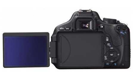 Canon EOS 600D Rebel T3i DSLR Camera back lcd flip
