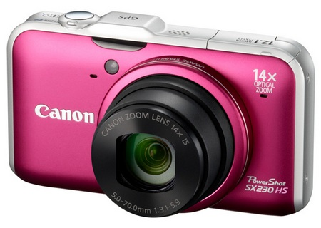 Canon PowerShot SX230 HS GPS-enabled Digital Camera red