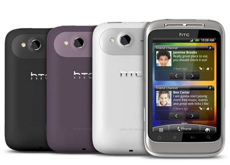 HTC Wildfire S Affordable Android Smartphone colors