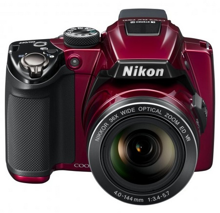 Nikon CoolPix P500 36x Ultra Zoom Camera red front