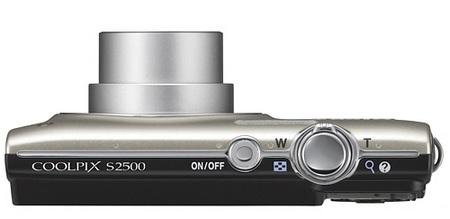 Nikon CoolPix S2500 digital camera top