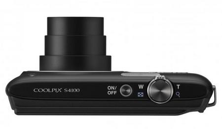 Nikon CoolPix S4100 digital camera top