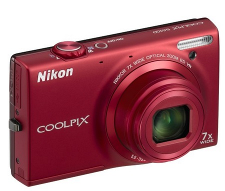 Nikon CoolPix S6100 with 7x Optical Zoom red