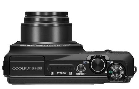 Nikon CoolPix S9100 Pocketable 18x Zoom Camera top