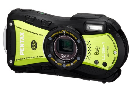 Pentax Optio WG-1 GPS Rugged digital camera yellow