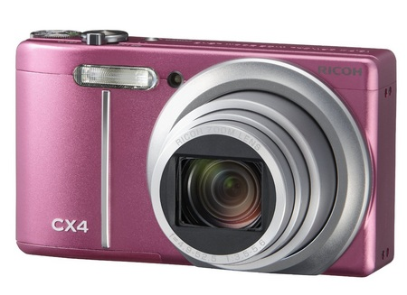 Ricoh CX4 Digital Camera with Subject-tracking AF pink