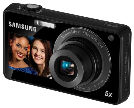 Samsung DualView ST700 touchscreen dual-screen camera