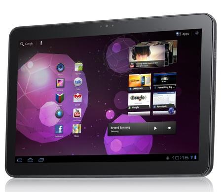 Samsung Galaxy Tab 10.1 Tablet runs Android 3.0 Honeycomb