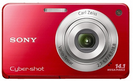 Sony Cyber-shot DSC-W560 digital camera red