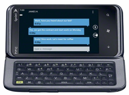 Sprint HTC Arrive CDMA Windows Phone 7 Smartphone keyboard