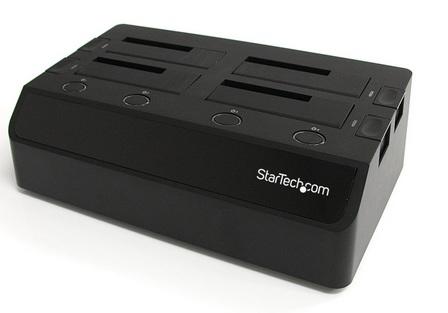 StarTech SATDOCK4U3E 4-Drive SATA HDD Docking Station with USB 3.0 and eSATA ports