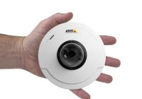 AXIS M50 Series PTZ Dome Network Camera on hand