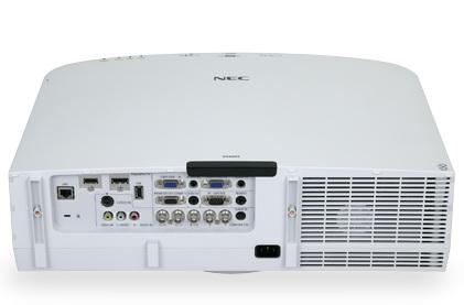 NEC PA600X, PA550W, PA500U and PA500X Professional Projectors back