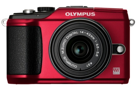 Olympus PEN E-PL2 Compact Interchangeable Lens Camera red