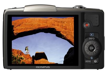 Olympus SZ-20 ultra zoom camera back