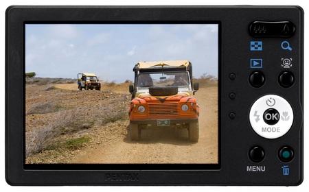 Pentax Optio RS1500 Customizable Camera back