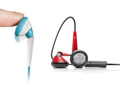 Stereo Headphones iSkin Eartones White//Black