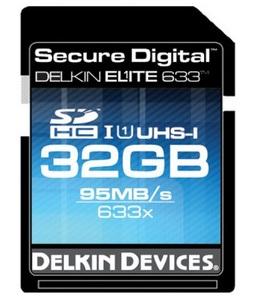 Delkin Elite 633 UHS-I SDHC Memory Card