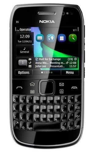 Nokia E6 QWERTY Business Smartphone black