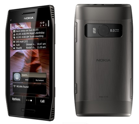 Nokia X7 Symbian Phone with 4-inch AMOLED Touchscreen back