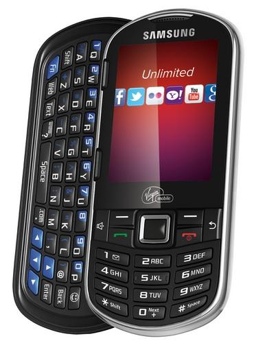 Virgin Mobile Samsung Restore QWERTY Phone