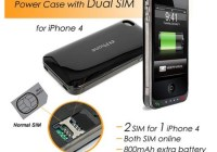 iPhone 4 Dual-SIM Battery Case supports Dual Standby