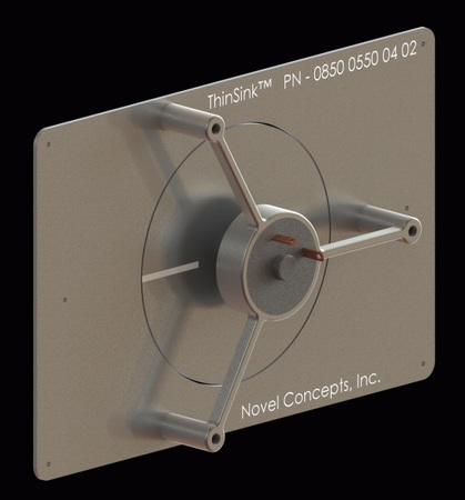 Novel Concepts Thinsink is the world's thinnest forced convection heat sink