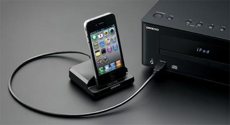Onkyo X-U1 CD Audio System with iOS Device Dock black