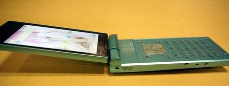 Softbank Sharp 007SH AQUOS PHONE THE HYBRID live side open
