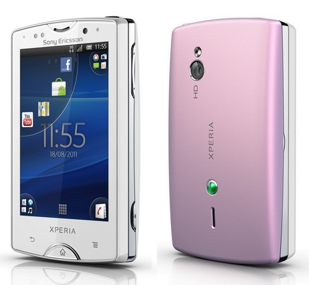 Sony Ericsson Xperia mini pro Android Smartphone front back