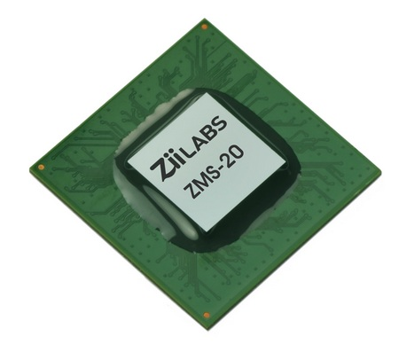 ZiiLABS ZMS-20 and ZMS-40 Media Processors Optimized for Android 3.0 Tablets
