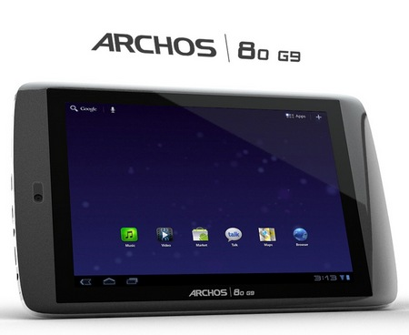 Archos 80 G9 Android 3.1 Honeycomb tablet