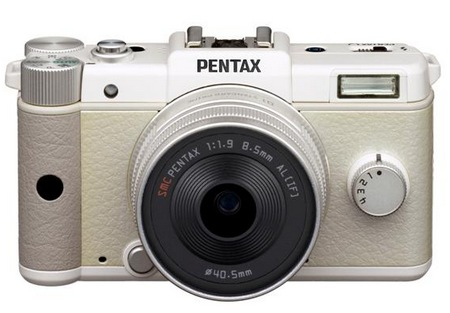 Pentax Q is the World's Smallest and Lightest Interchangeable Lens Camera white